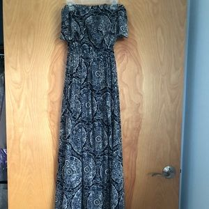 Hollister Strapless Peasant Maxi